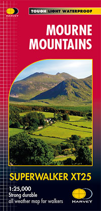 Map Of Ireland With Mountains.Mourne Mountains Map