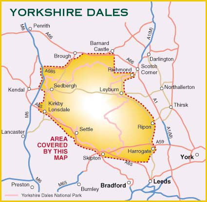 Harvey Maps Yorkshire Dales For Cyclists