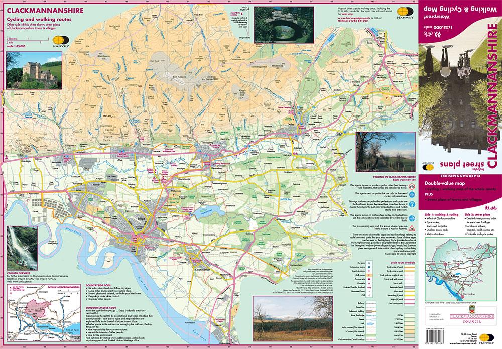 Clackmannanshire Walking  U0026 Cycking Map