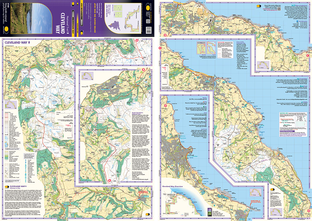 Cleveland Way Map on