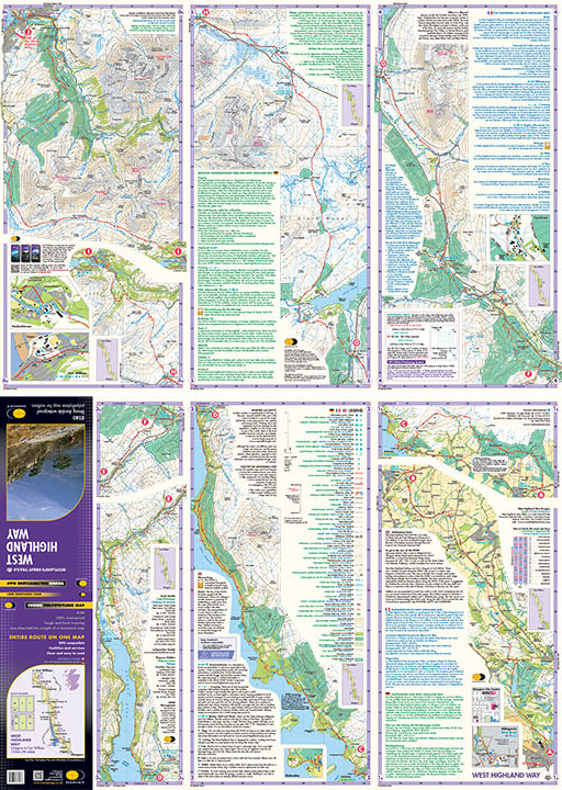 Map Of Uk Highlands.West Highland Way
